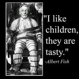 يعشق أكل لحوم الاطفال