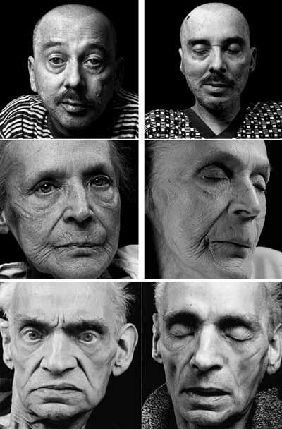 صور اشخاص قبل الموت وبعده مباشرة