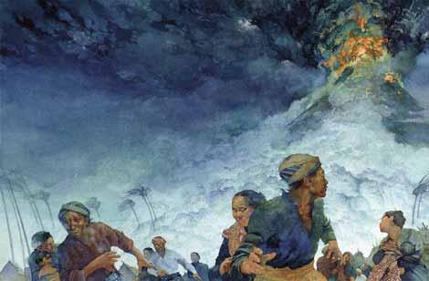 ثوران بركان عام 1815 ادى الى كارثة بيئية