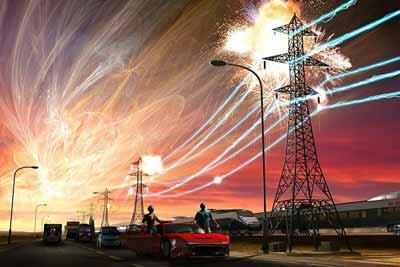 انفجار شمسي عظيم يمكن ان يهدد خطوط الطاقة والاتصالات على كوكبنا