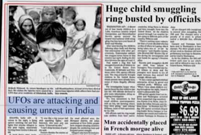 صورة من الصحف تظهر هنود مصابين جراء تلك الهجمات الغامضة
